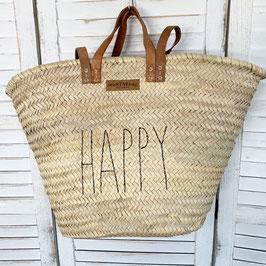 Korbtasche mit HAPPY