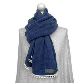 BOMMEL-SCHAL in BLUE | WHITE