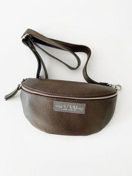 CROSSBODY-BAG BROWN mit Lederriemen - wahlweise in BIG, oder SMALL