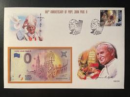 Official Euro Souvenir Cover - Pope John Paul II