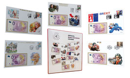 Official Euro Souvenir Covers - 5 covers with album