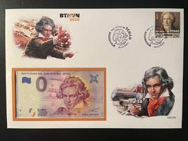 Official Euro Souvenir Cover - Ludwig Van Beethoven