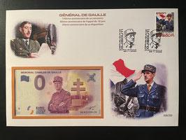 Official Euro Souvenir Cover - Général Charles de Gaulle