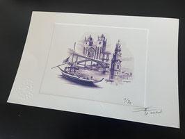 "Prova de artista ""Porto"" numerada e assinada"