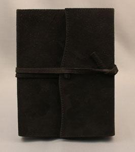 Notizbuch, Tagebuch, Kladde - Design wellig, schwarz, 0043a
