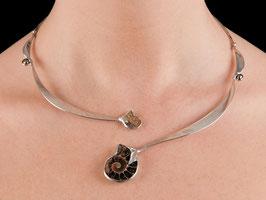 Halsschmuck Collier Silber 925 Ammonit Perle 1002S