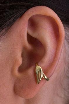 """Kleiner Ohrring vergoldet """"Blatt"""", 104G"""