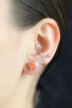 Ohrring Naturkoralle in Rosenform 820S