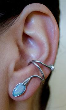 Ohrring mit Opal und Perle 822S