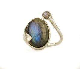 Ring Fingerring aus Silber 925 mit Labradorit 524S