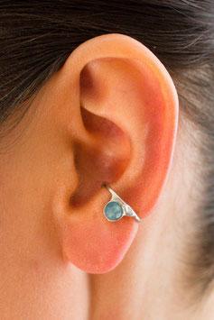 Klein Ohrring mit blauem Achat, 121S