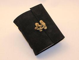 Notizbuch, Tagebuch, Adressbuch, Leder, schwarz, Hakenverschluss, 0068