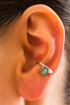 Klein Ohrring mit grünem Achat, 117S