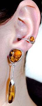 Ohrring mit Anhänger - Bernstein 903S