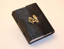 Notizbuch, Tagebuch, Adressbuch, Leder, Kuhfell, Hakenverschluss, 0072