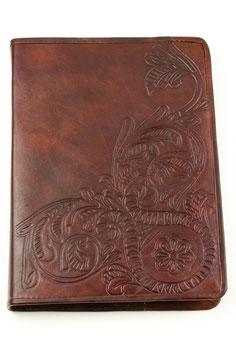 Lederbuch/Tagebuch/Notizbuch, Muster Relief, 0124