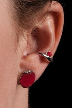 Ohrring Ohrklemme Silber 925 mit Baumkoralle 809S