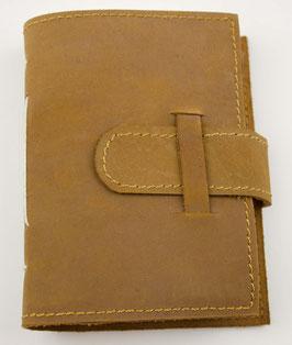 Notizbuch, Tagebuch, Adressbuch, Leder, hellbraun, Ziernaht, klein, 0041