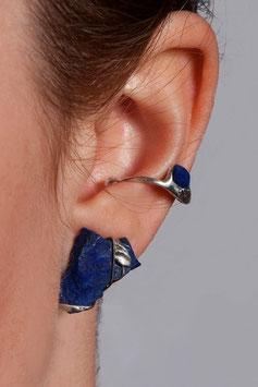 Ohrring mit Lapis Lazuli (Rohstein), 801S