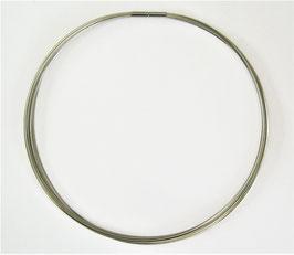 kräftiger Halsreif aus Edelstahl / Drahtcollier (mit 15 Strängen), verschiedene Längen