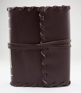 Notizbuch, Tagebuch, Kladde - braun bzw. schwarz, Design umrandet, 017a-b