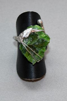 Ring Fingerring Chromdiopsid Rohstein Silber 528S
