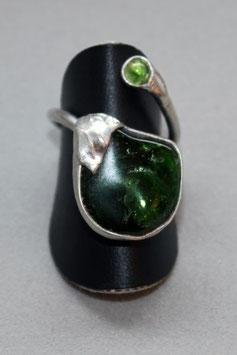 Ring Fingerring Chromdiopsid poliert Silber 527S