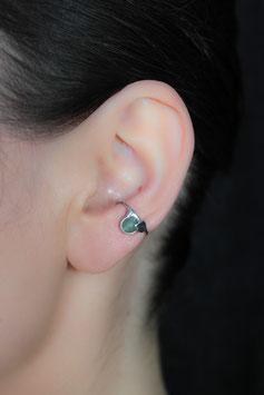 Kleiner Ohrring mit mattierter Aventurinkugel 127S