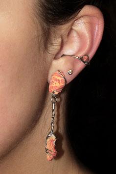 Ohrring mit Anhänger - Schaumkoralle 908S