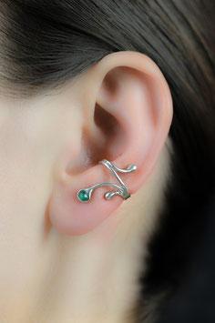 Ohrring  mit grünem Achat, 306S