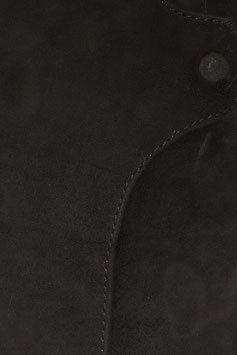 Lederbuch/Notizbuch/Tagebuch, mit Magnetverschluss, schwarz, 0063