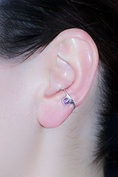Klein Ohrring mit Amethyst, 115S