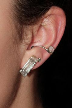 Ohrring Ohrklemme Silber 925 Aquamarin 807S