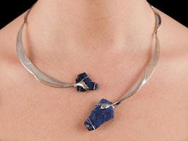 Halsschmuck Collier Silber 935 Lapis Lazuli 1005S