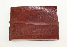 Lederbuch, Tagebuch, Notizbuch, OM-Motiv, Querformat, 011