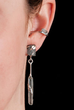 Ohrring mit Anhänger - Aquamarinkristall 912S