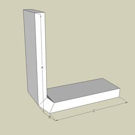 Halb U-Profil / Länge 95 cm