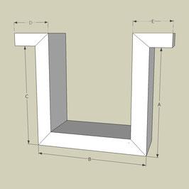 Omega Profil / Länge 95 cm
