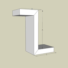 Z-Profil / Länge 95 cm