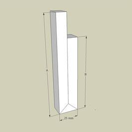 Rahmen für Deckensegel / Länge 95 cm