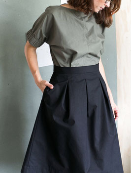 Three Pleated Skirt Pattern - The Assembly Line Multisze XS-.L