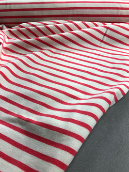 Jersey striped knit Apart himbeere