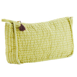 Madame Stoltz,Quilted Linen Clutch Yellow/Rose Groß Size: 30x10x20 cm