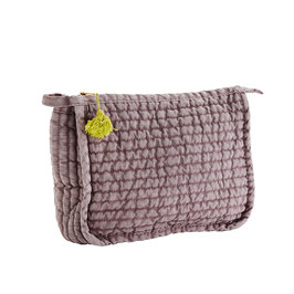 Madame Stoltz, Quilted Linen Clutch rose/yellow   Size: 21x8x17 cm
