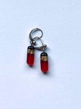 Ohrringe Rot/Schwarz