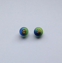 Ohrstecker grün/blau