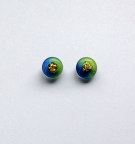 Ohrstecker blau/grün