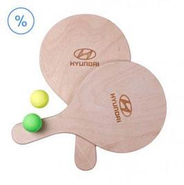 Hyundai Beachball-Set aus Holz