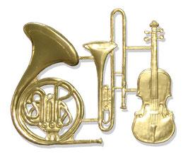 Musikinstrumente groß 3er Set