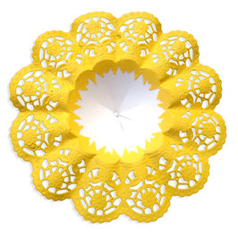 Biedermeiermanschetten gelb